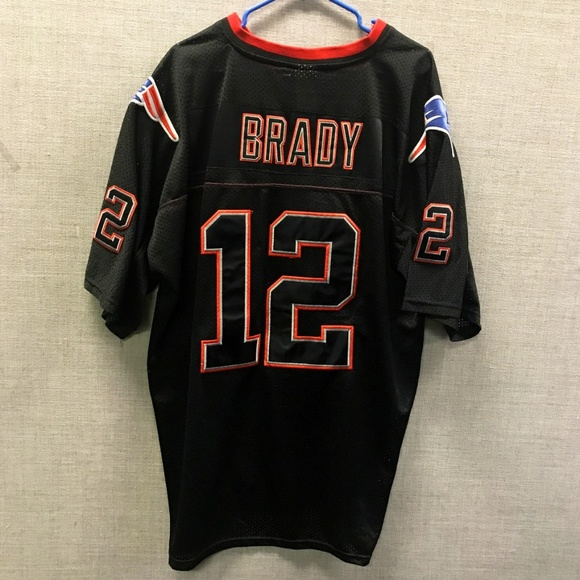 black and red patriots jersey